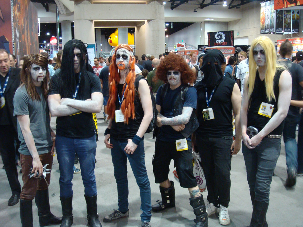 New 3d Wallpaper Dethklok And A Minion Adult Swim S Metalocalypse Flickr