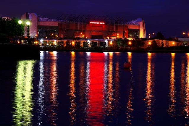 Message Wallpaper Hd Old Trafford At Night Taken From Salford Quays Looking