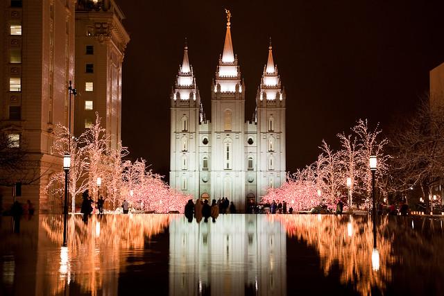 Natal Wallpaper 3d Salt Lake City Lds Temple Christmas 2008 Last Night I