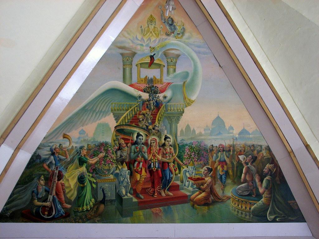 King 3d Wallpaper Sri Ram S Return To Ayodhya By Pushpak Vimaan Iskon Templ