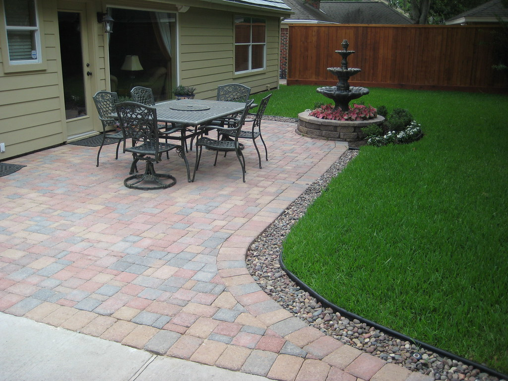 Drainage Terrasse Paver Patio With Fountain Paver Patio With Fountain And