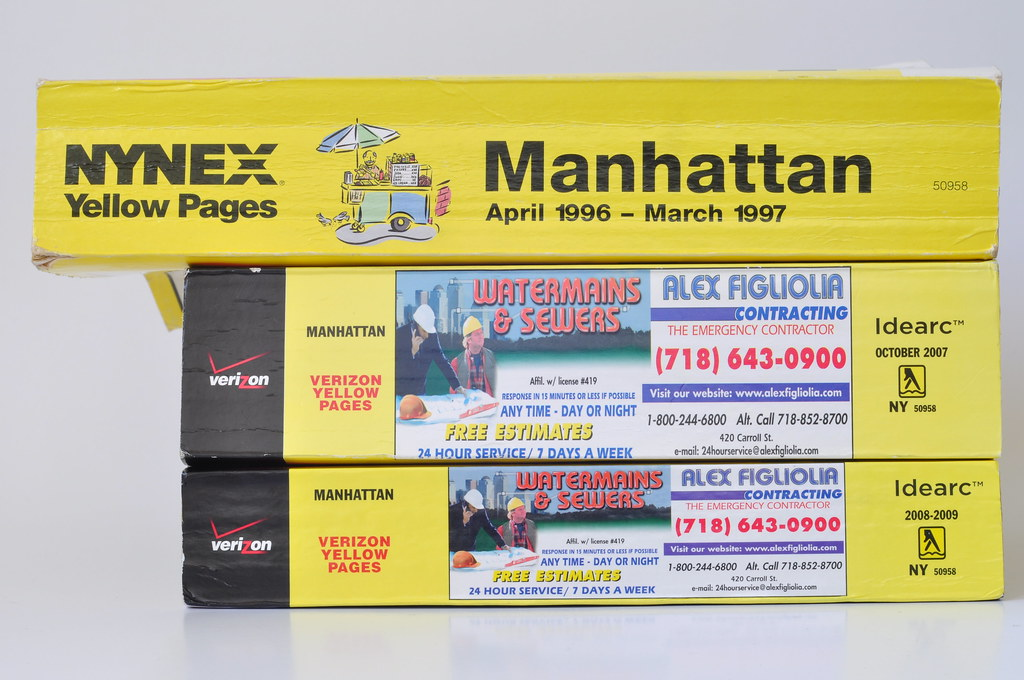 Tivoli New York Phone Book The Yellow Pages Are Shrinking! | Manhattan Yellow Pages