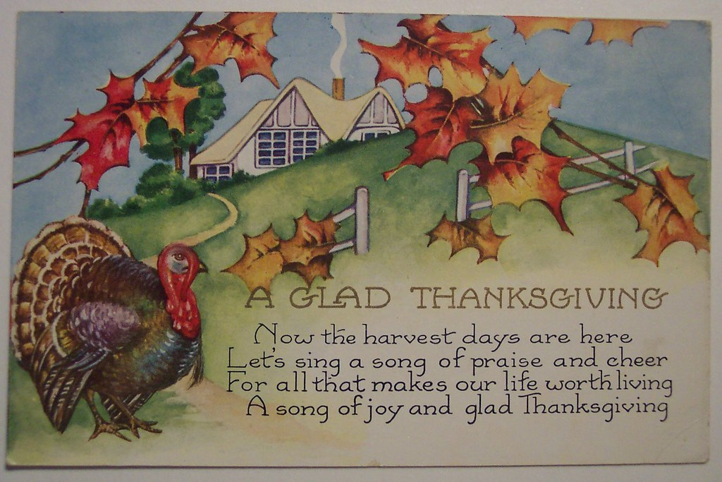 Christian Fall Desktop Wallpaper Vintage Thanksgiving Day Postcard Dave Flickr