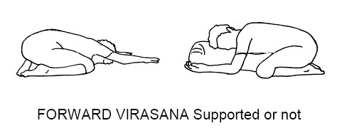 Forward Virasana