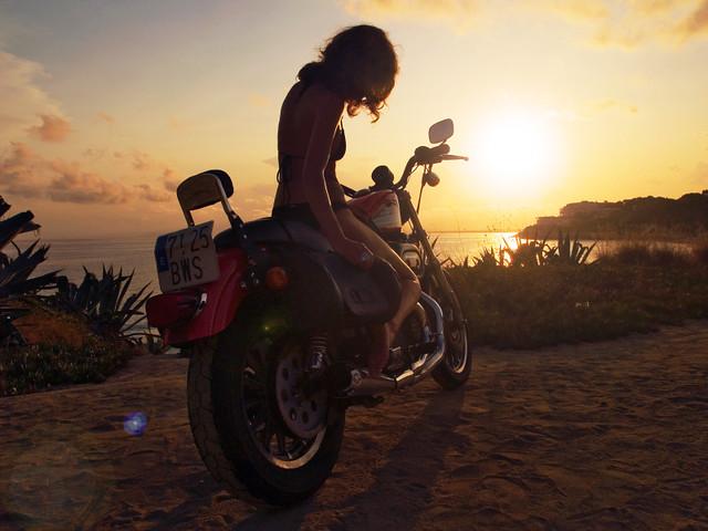 3d Yamaha Motorcycle Wallpaper Sunset Rider Explore 1st 1st On Interesting Photos