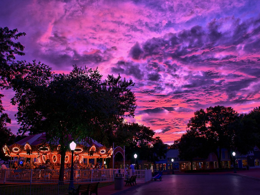 Hd 3d Wallpapers For Computer Adventureland Usa Sunset Hdr Not Disney This Is