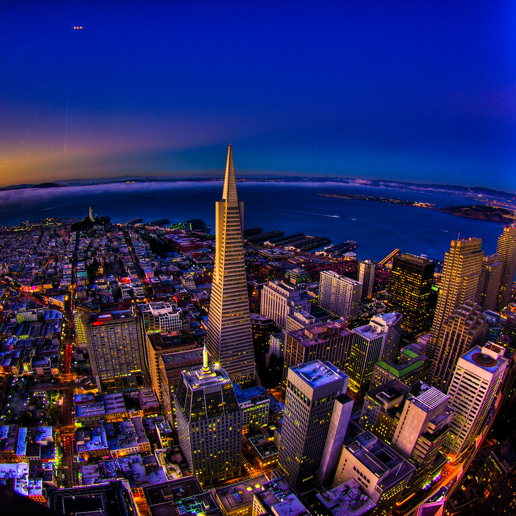 3d Pyramid Wallpaper Transamerica Tower Hdr At Dusk San Francisco Better On