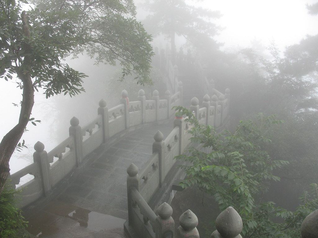 Wallpaper Korea 3d Floating Bridge Riding From A Peak To Another Peak Wudan