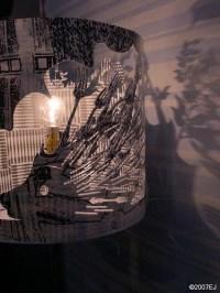 9064 Hedgehog Lamp | Rotating laser cut, screen printed ...