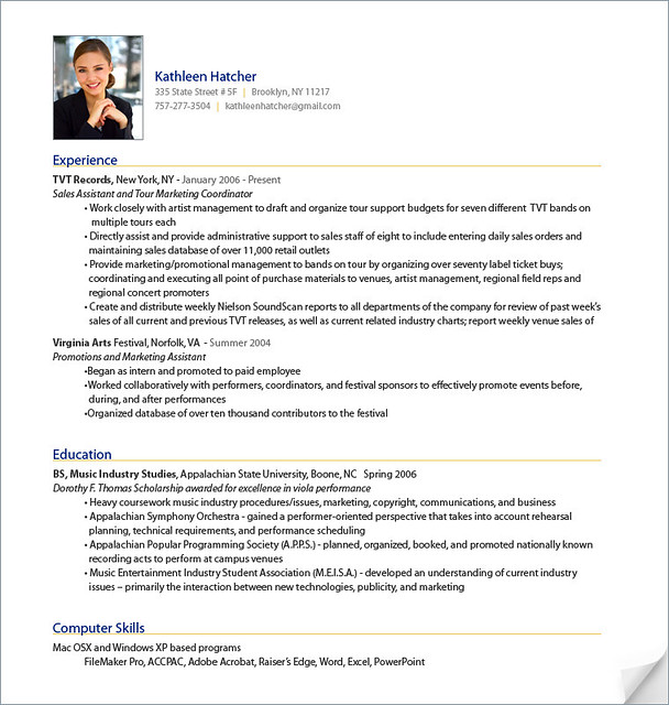 Building A Good Resume Cppmusic Professional Resume Sample From Resumebear Sample