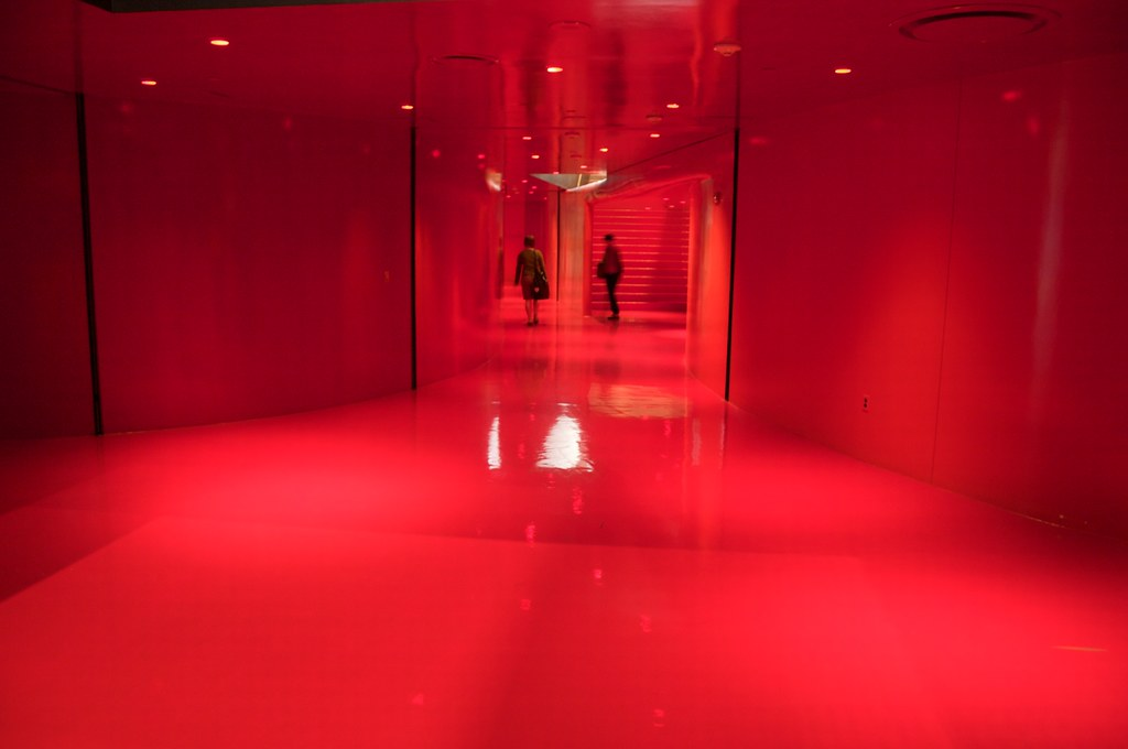 3d Interior Wallpaper Hd Rem Koolhaas Seattle Public Library Red Hall 03 I Love