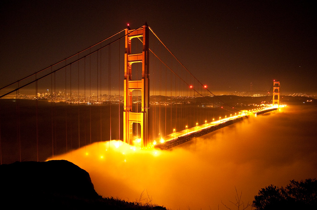 How To Get 3d Wallpaper Iphone Golden Gate Bridge At Night Photo By Dave Schumaker