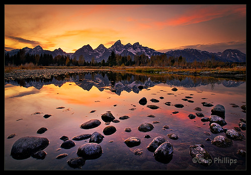 3d Fall Desktop Wallpaper Grand Teton Sunset The Grand Tetons Seen At Sunset Over