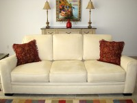 Light butter yellow microfiber sofa | Flickr - Photo Sharing!