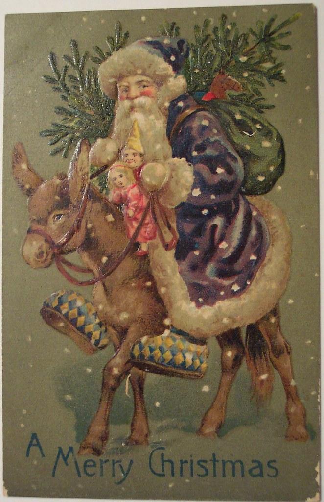 Happy Christmas Wallpaper 3d Vintage Christmas Postcard Santa Dave Flickr