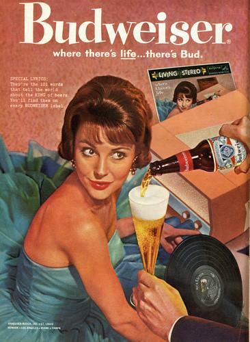 Retro Girl Wallpaper Budweiser Girl Vintage Ad 1960 February 15 1960