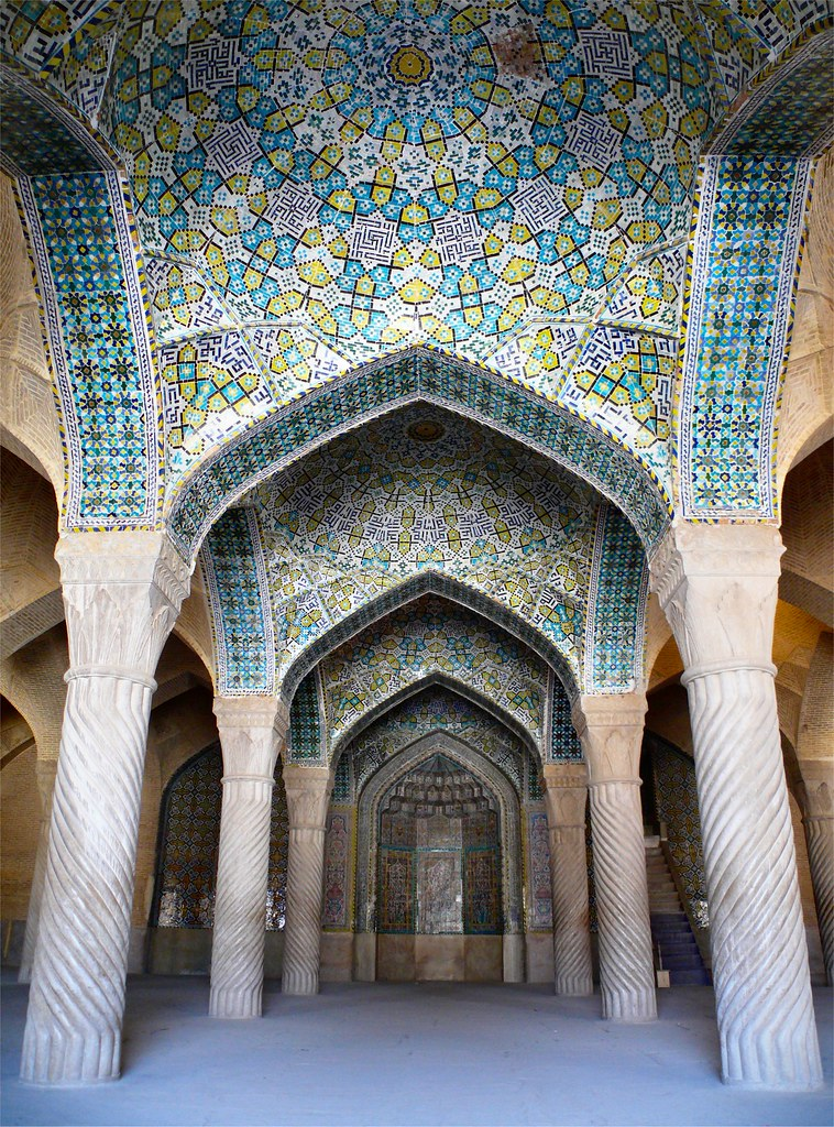 Wallpaper Images 3d Free Vakil Mosque The Praying Room Of The Vakil Mosque At