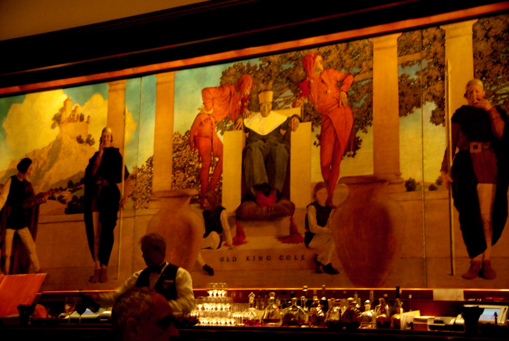 Three Star Hotel In St. Regis Bar - Manhattan - Maxfield Parrish Mural - Old K