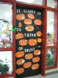 Door Decorations for Red Ribbon Week | It Scares Us to ...