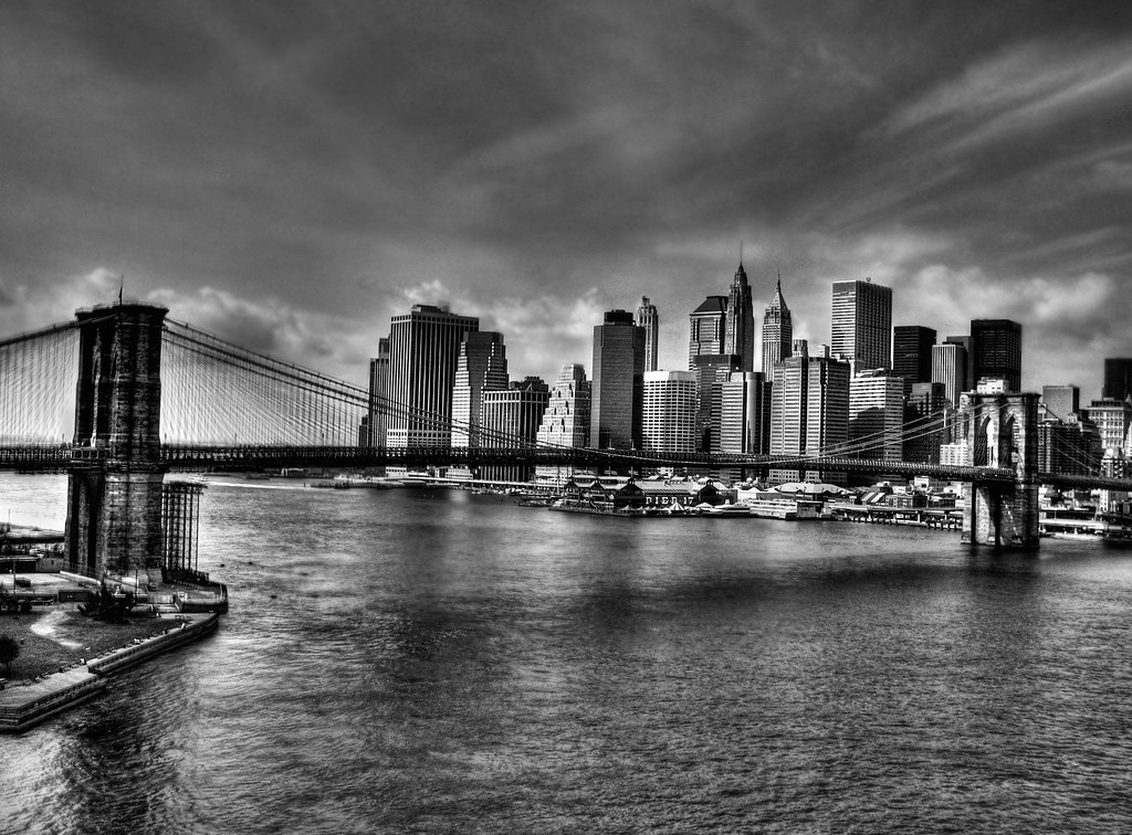 Brooklyn Bridge Wallpaper Black And White Nyc And Brooklyn Bridge Alex Flickr