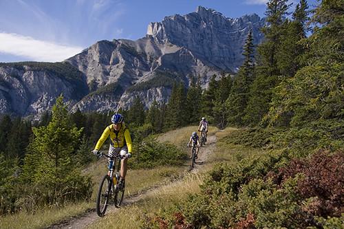 3d Tunnel Wallpaper Mountain Biking Banff Alberta Canada Ad 2012 01 04