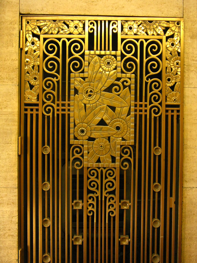 Deco Wallpaper 3d Art Deco Grill Architectural Detail From Downtown