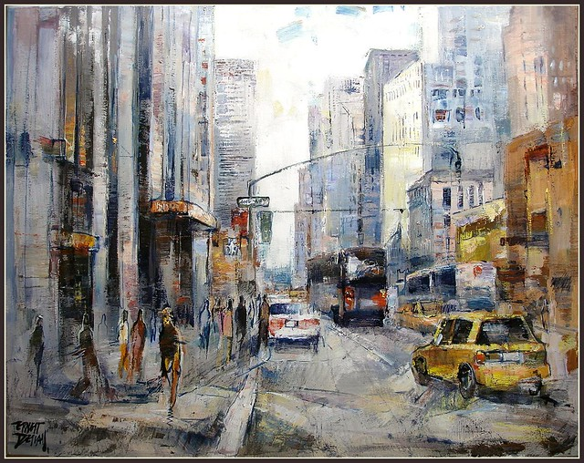 Free Winter 3d Desktop Wallpaper New York New York Artista Pintor Ernest Descals Pintura