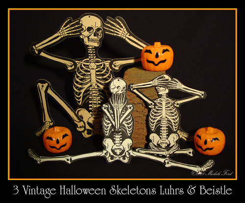 Vintage halloween skeletons h e luhrs amp beistle flickr