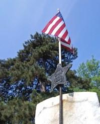 GAR holder, with flag | A GAR graveside flag holder. The ...