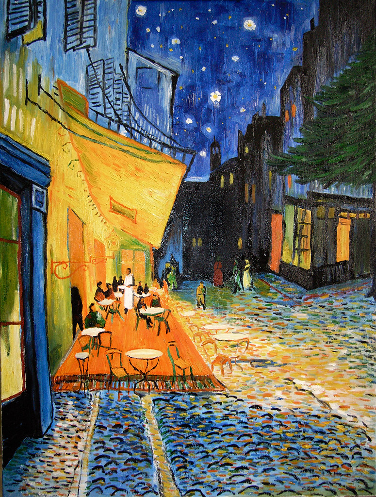 3d Painting Hd Wallpaper My Mimicry Of Van Gogh S Cafe Terrace At Night Yumian