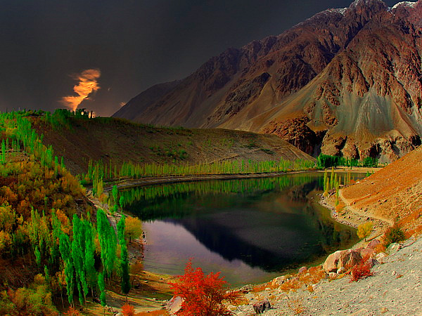 3d Name Wallpapers R Phandar Lake Phandar Valley Ghizar Pakistan At An