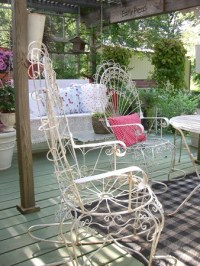 Craigslist find... | Vintage patio set. 4 rockers and a ...