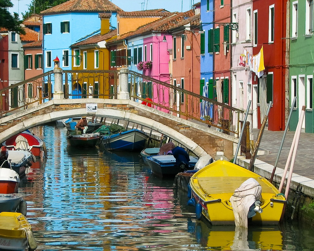 3d Colourful Wallpaper Burano Island In Venece Italy I Took This Photograph
