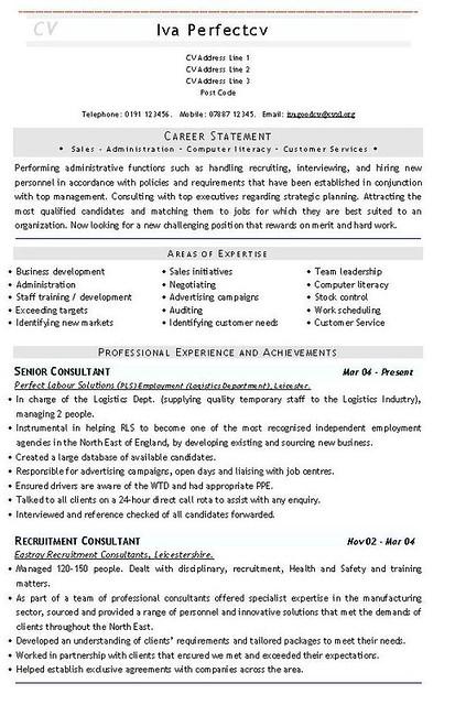 recruitment consultant cv - Goalgoodwinmetals - recruiter consultant resume