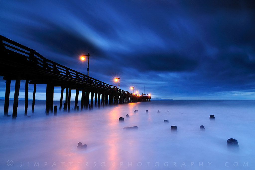 3d Wallpaper Night Sky Blue Hour Capitola Pier Sunrise Capitola California