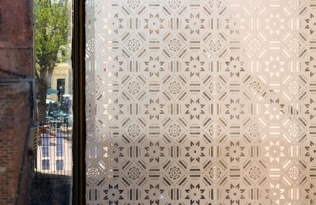 patterned window glass