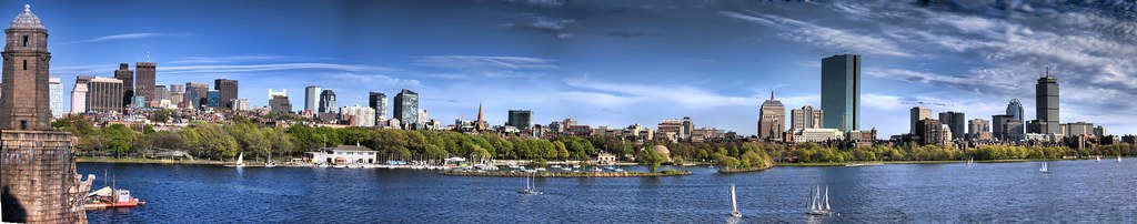 3d River Wallpaper Boston Skyline Panorama Back Bay I Can Not Get Enough Of