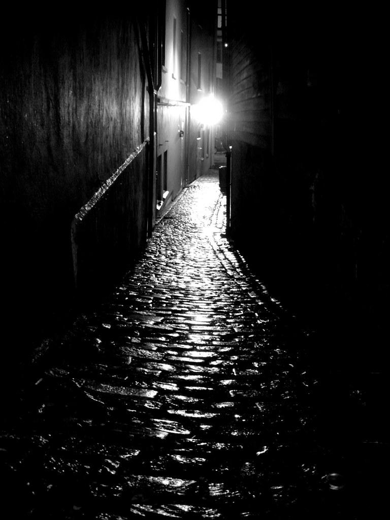 Vintage Brick Wallpaper 3d 34 365 A Dark Street It Has Started To Rain Here In