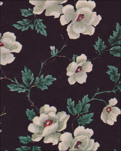 Better Homes And Gardens Fall Desktop Wallpaper 1949 Black Floral Wallpaper This Is A Sample Of