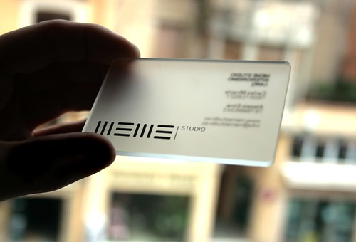 transparant business cards