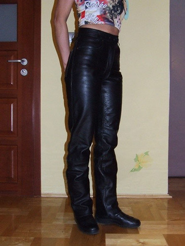 Leather White Polish Girl In Leather Pants | Kniffo Berlin | Flickr