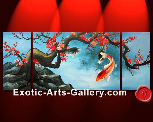 Koi 3d Wallpaper Koi Fish Painting 14 Abstract Art Oil Painting Feng