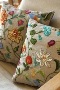 crewel embroidery pillow   crewel embroidery pillow   Flickr