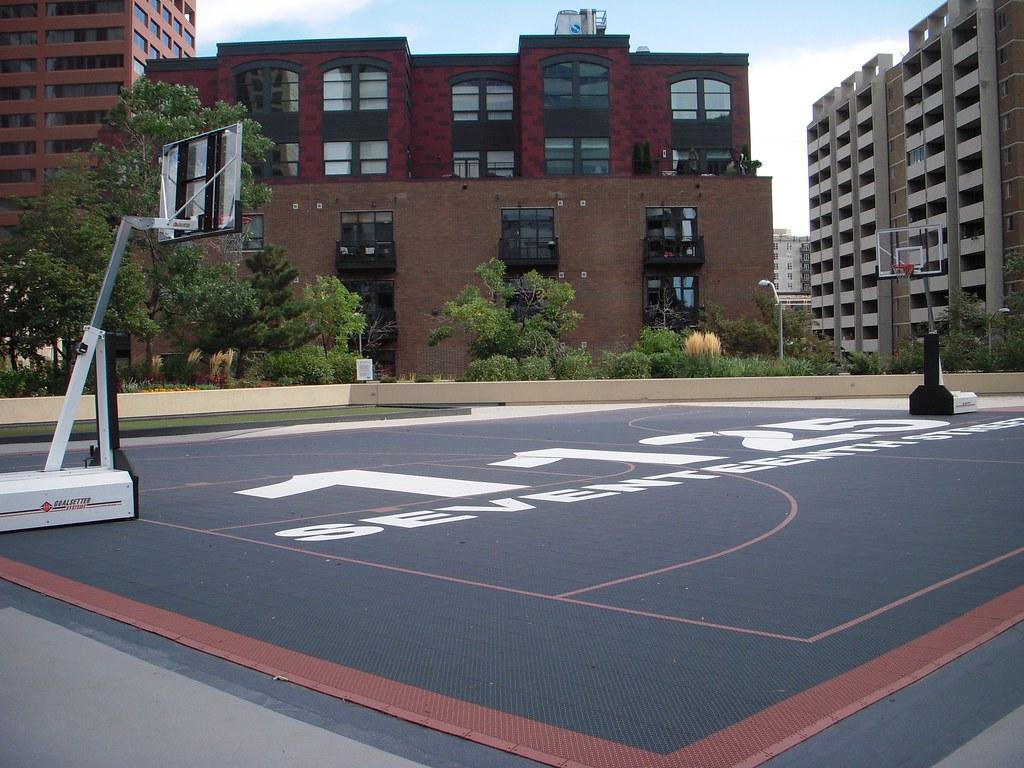 3d Basketball Wallpaper Roof Top Basketball Court Adam Lederer Flickr