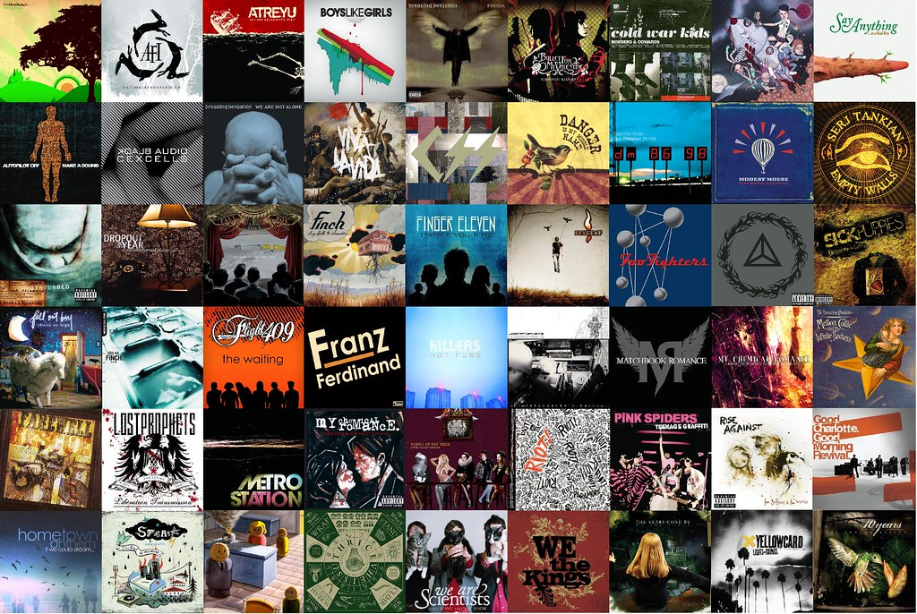 3d Vinyl Records Wallpaper Album Art Collage After Being Inspired By My Macbook S