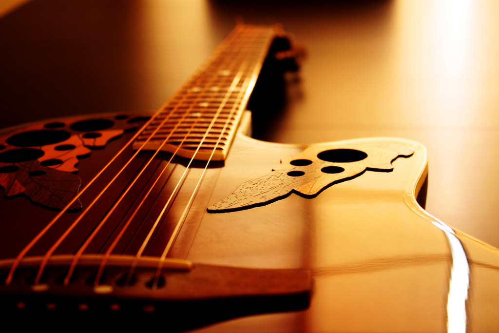 Christian Wallpaper Hd 3d Ovation Guitar Ovation Guitar Laying On A Table