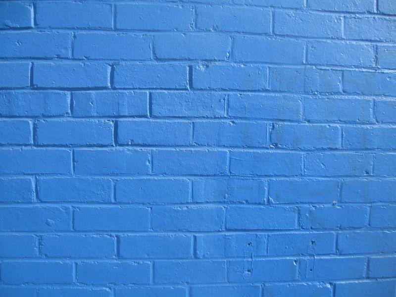 Blue brick wall colin campbell flickr