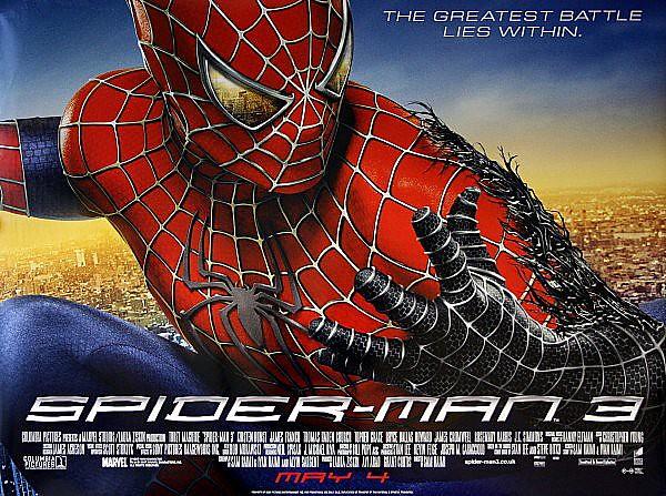 3d Wallpaper Made In China Spiderman 3 Original 2007 Advance Uk Film Poster