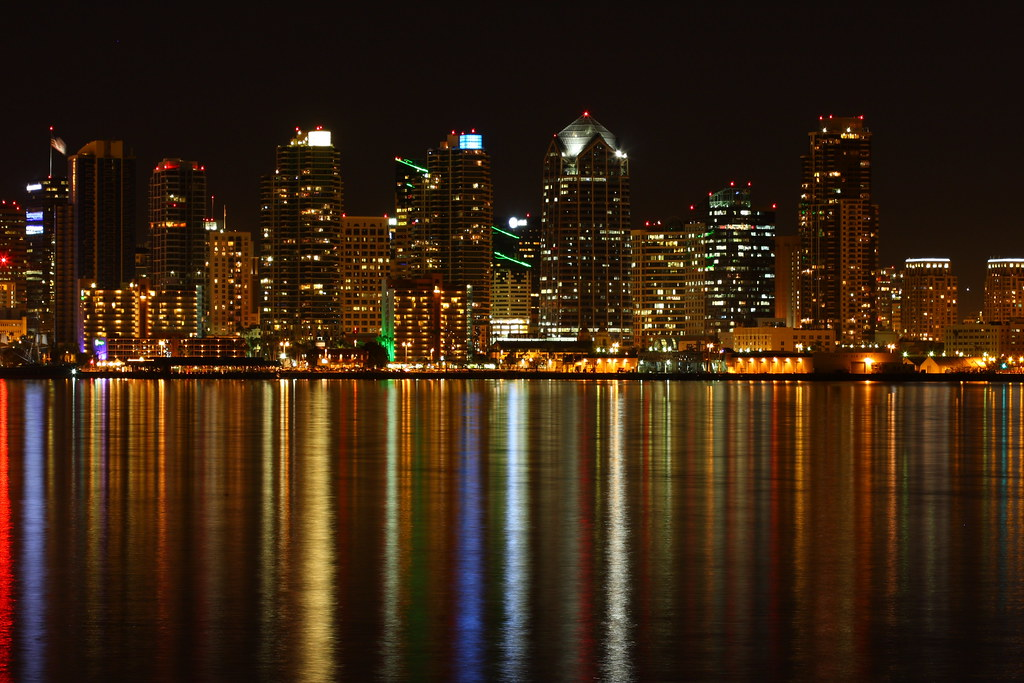 3d Hd Good Night Wallpaper The Colors Of Downtown San Diego So There Are Two