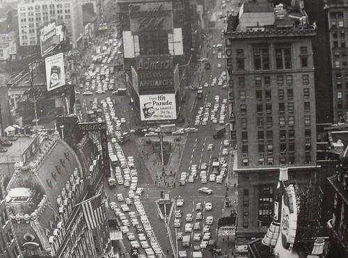 Vintage Black Wallpaper Times Square 1953 Aerial View Vintage New York City